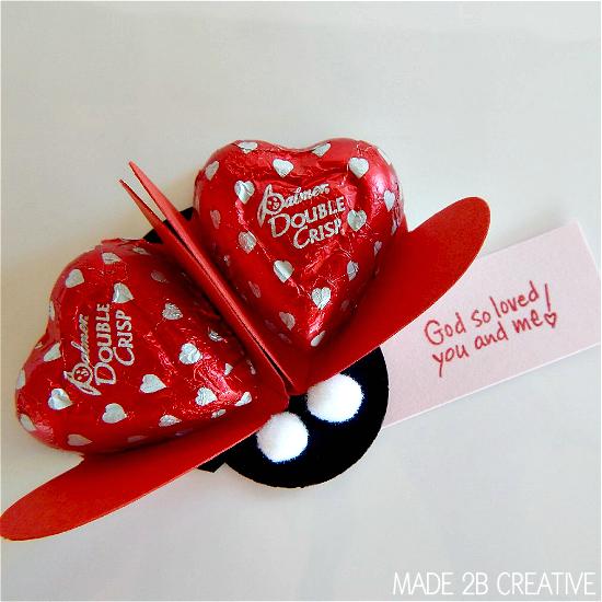 Ladybug Punch Art Valentine