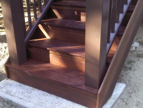 Best Ipe Deck Stairs This Style Is Called A Boxed Stair Or 400 x 300