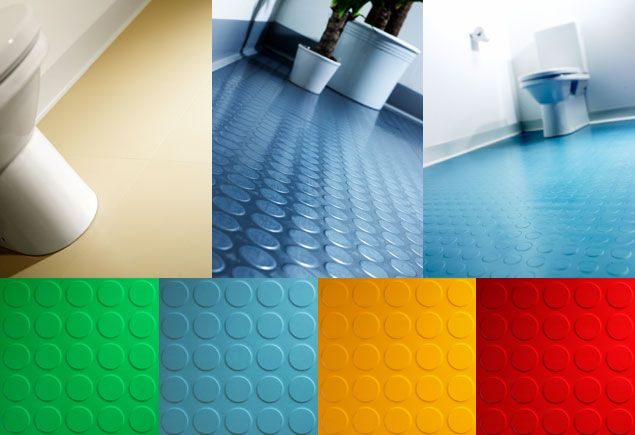 Floor A Dot Rubber Bathroom Flooring Frequently Used In The Inhe Qualities Of Round Stud Tile Also Makes It Suitable For