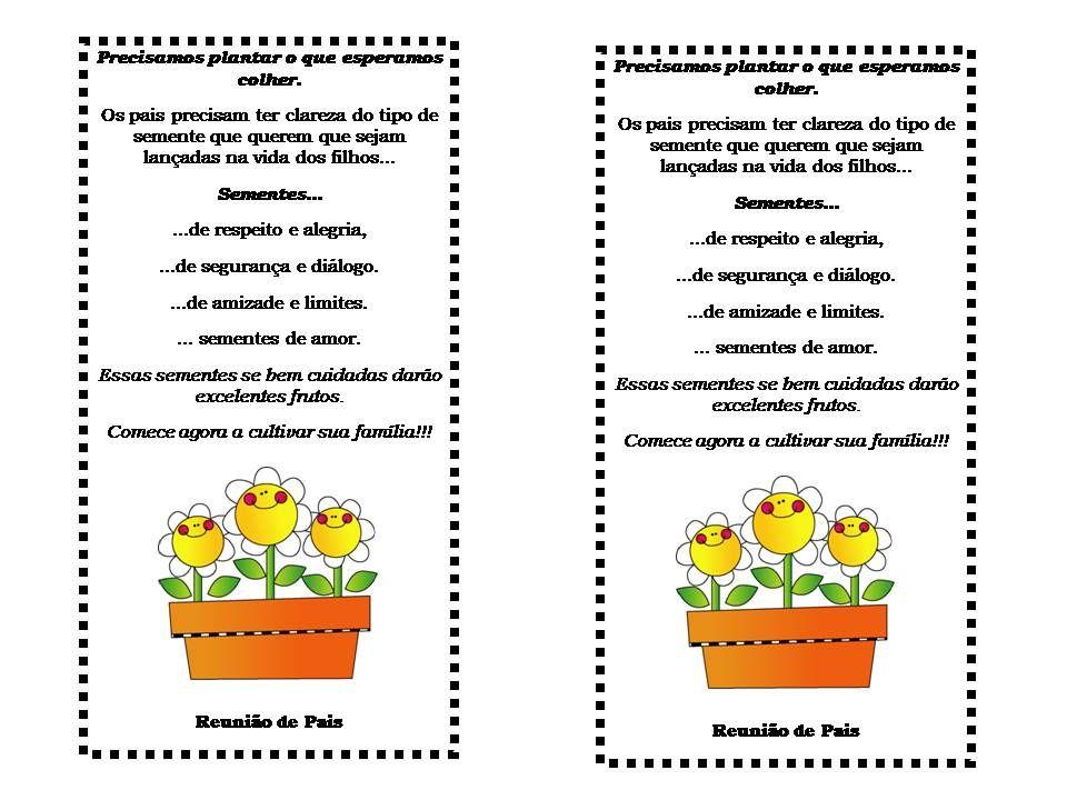 Mensagem Para Reunião De Pais Pesquisa Google Rimas Poesías