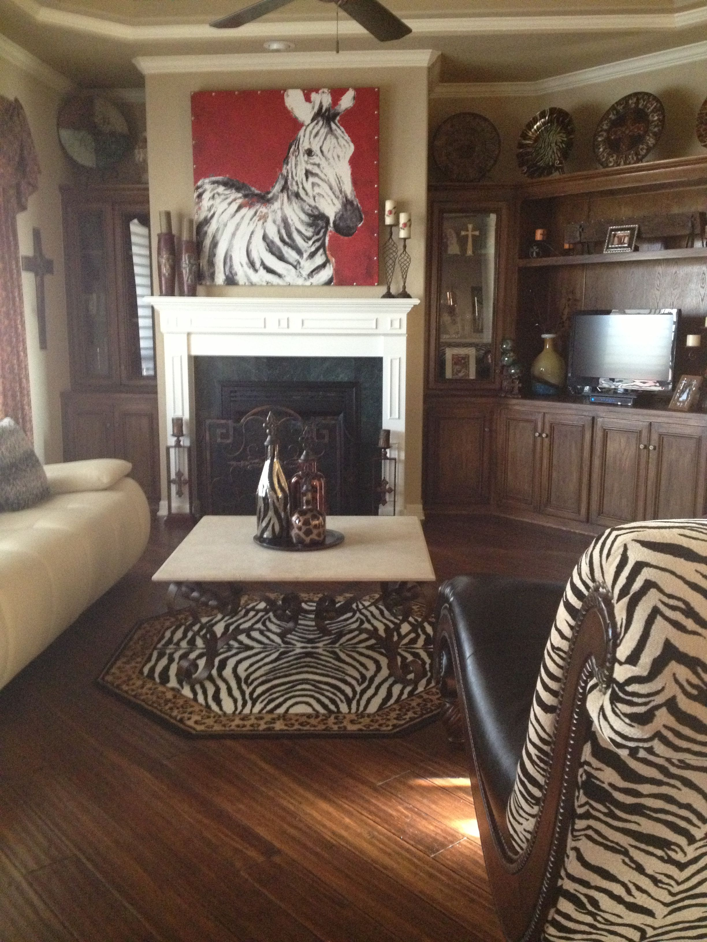 This Is My Zebra Living Room I Love Animal Prints So This Design Was Perfect For Me I Got The Big Painting Fro Zebra Living Room Zebra Decor Living Room Red #pier #one #living #room