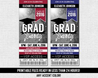 GRADUATION PARTY TICKET Invitations Or Announcement By Nowanorris  Party Ticket Invitations