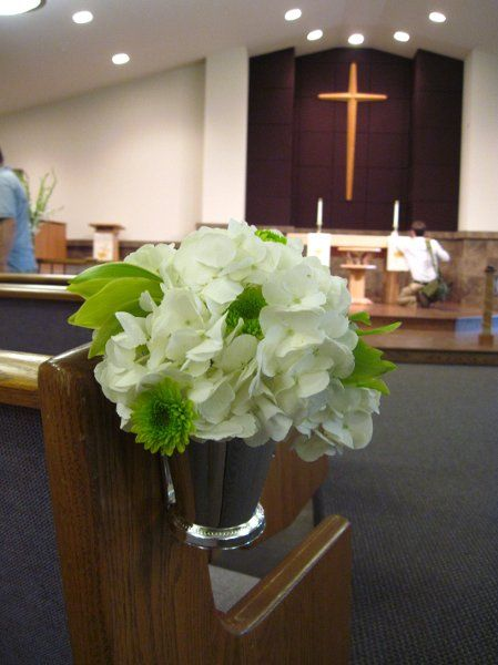 Simple for the end of aisles in church or bouquet