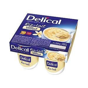 Delical Dessert Lacté HP HC Riz au Lait Vanille Note Caramel 4 x 200g #rizaulait