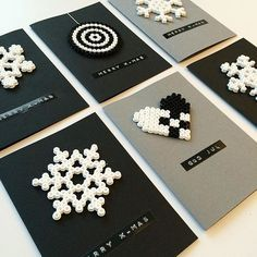 Christmas cards hama beads by  reginehoen