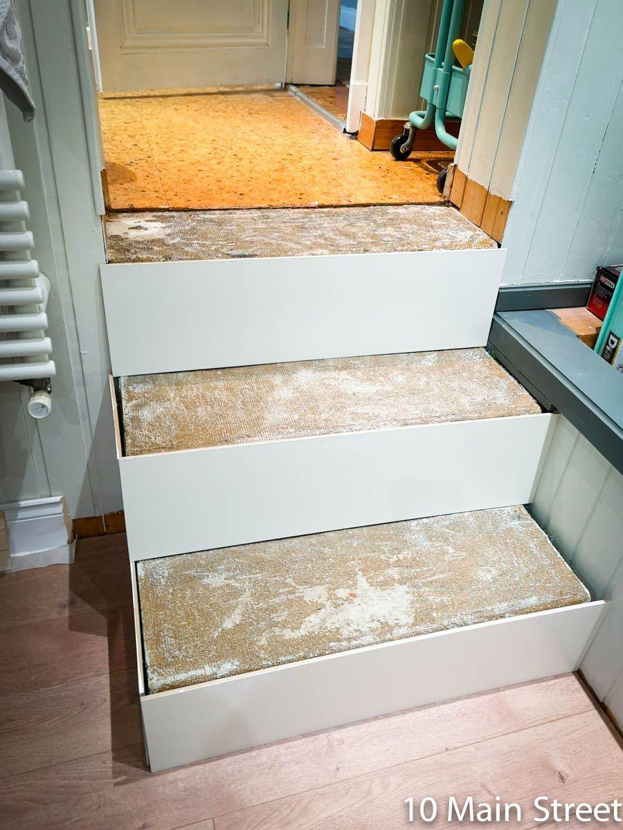 Un Escalier Moche Habillez Le 10 Main Street Renover Escalier Habillage Escalier Beton Escalier Carrelage