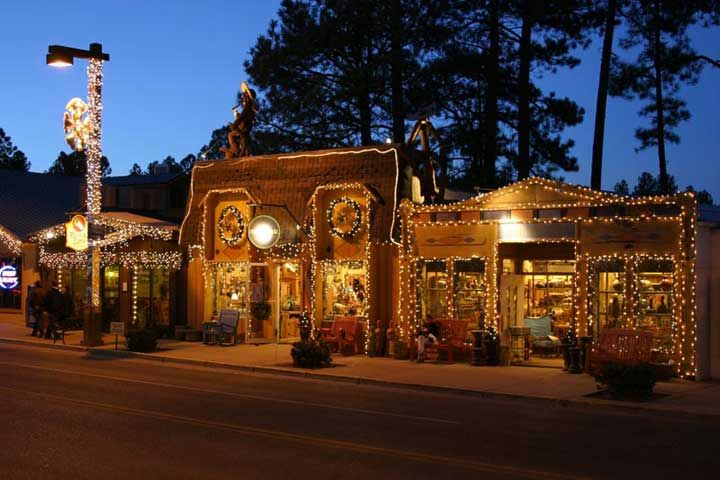 Ruidoso Nm Downtown At Christmas Photo Picture Image New