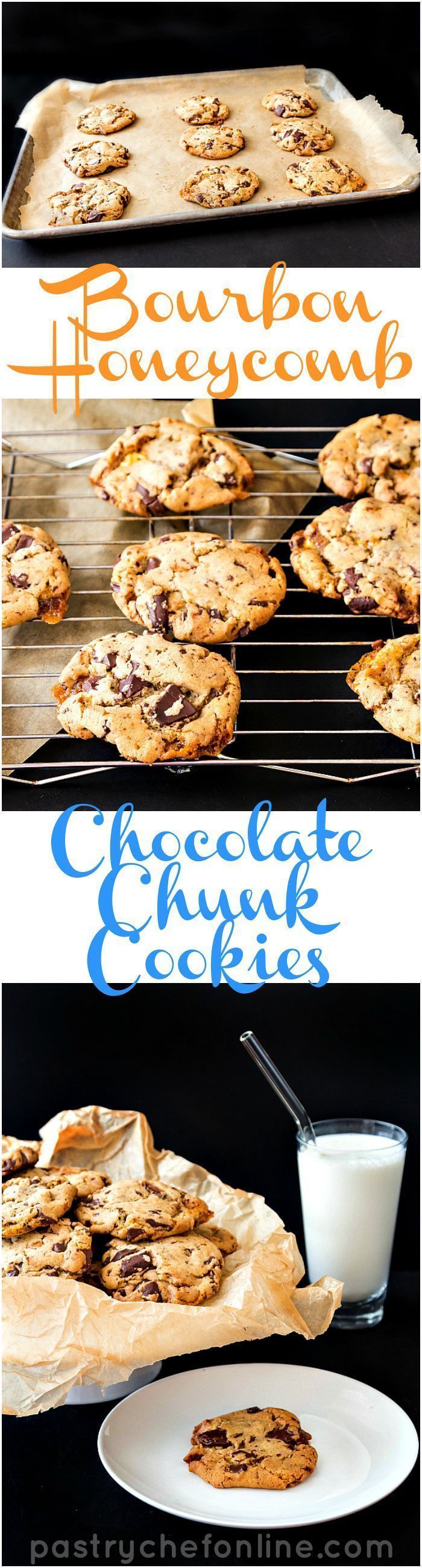 Chocolate Chip Bourbon Honeycomb Cookies   Pastry Chef Online