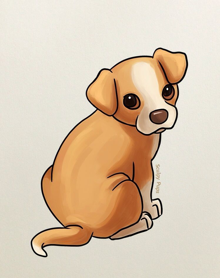 Puppy Cute Dog Cartoon Drawing In 2020 Puppy Drawing Dog