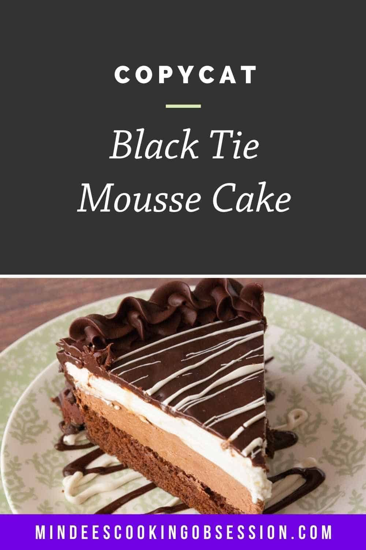 Black tie mousse cake recipe in 2020 cake servings