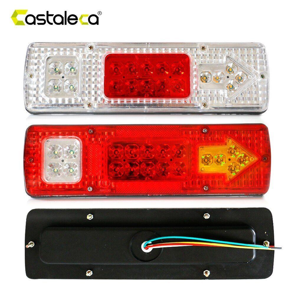 Castaleca 1pcs 19 Led Caravan Lighting Trailer Truck Light Caravan Truck Tail Light Turn Signal Reverse Brake Rear Lamp 1 Truck Lights Tail Light Light Trailer