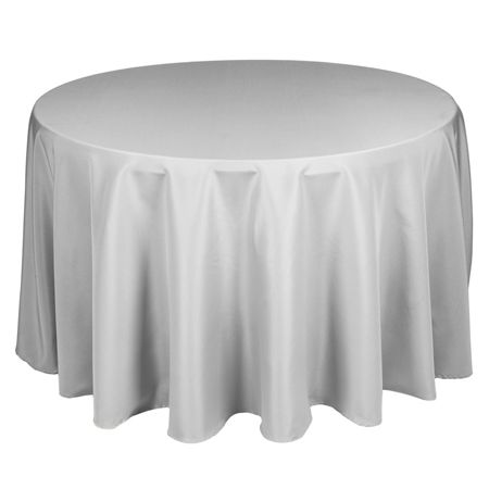 108 Round Polyester Silver Tablecloth Www Smartyhadaparty Com
