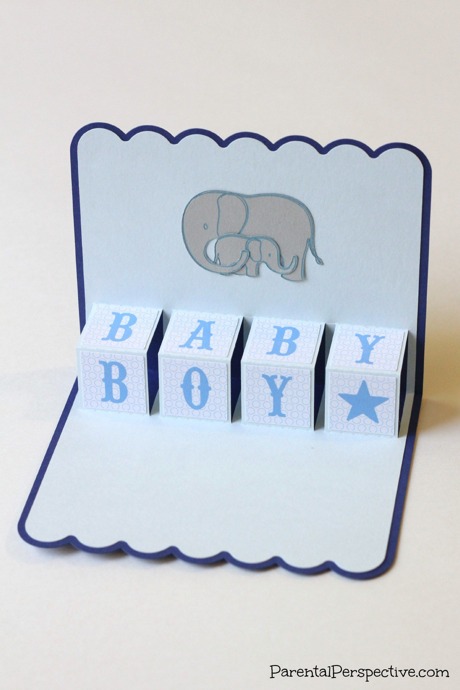 New baby pop up card create babies and baby cards