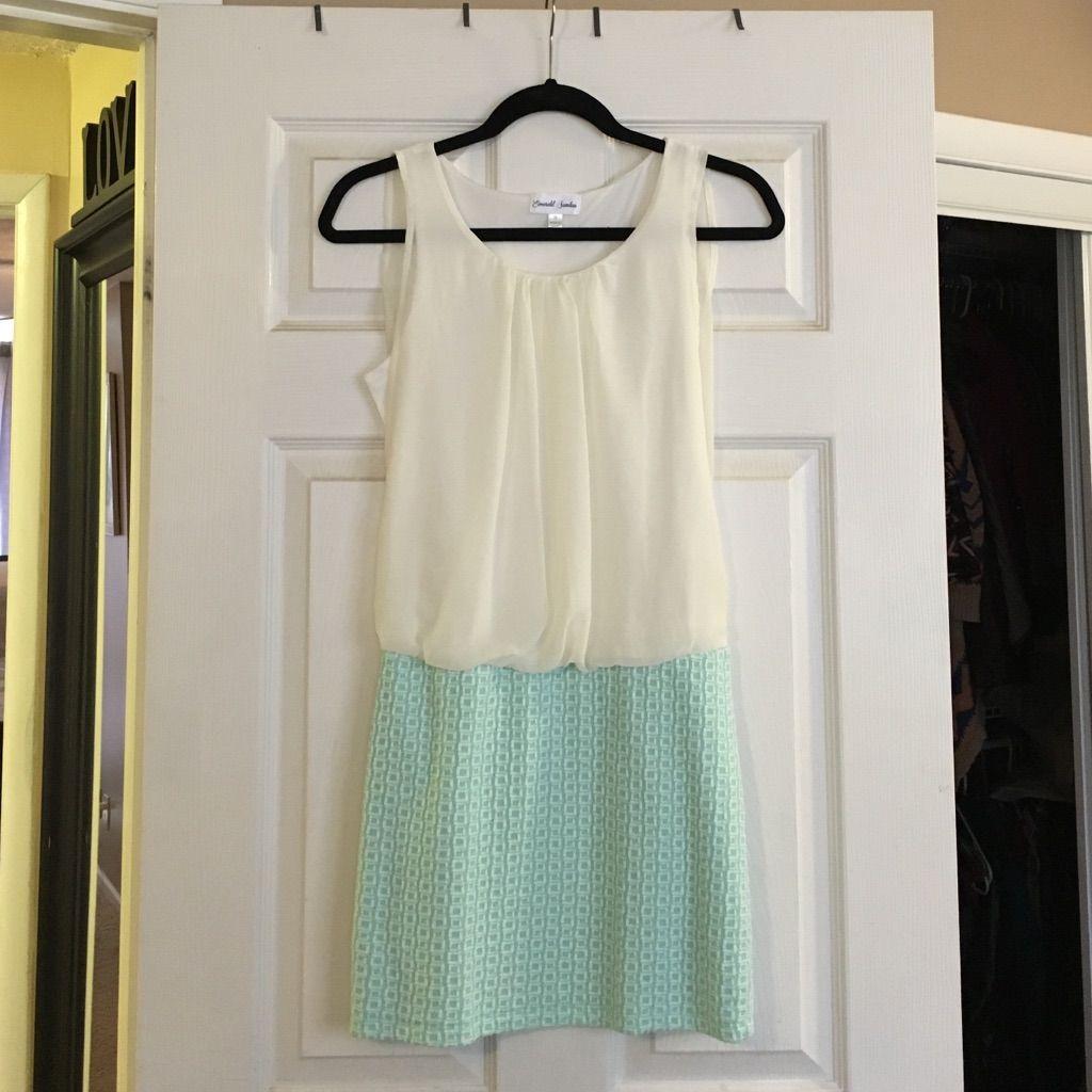 Emerald sundae mint and white mini dress products