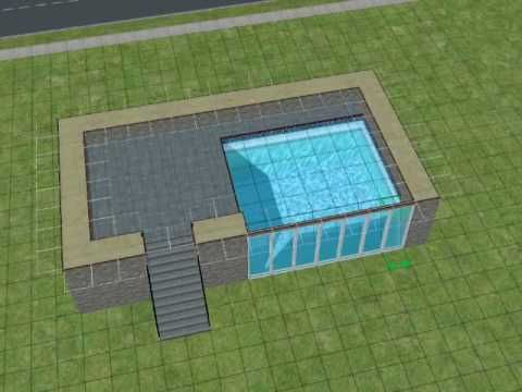 The sims2 making a pool with windows youtube sims 3 for Pool design sims 3