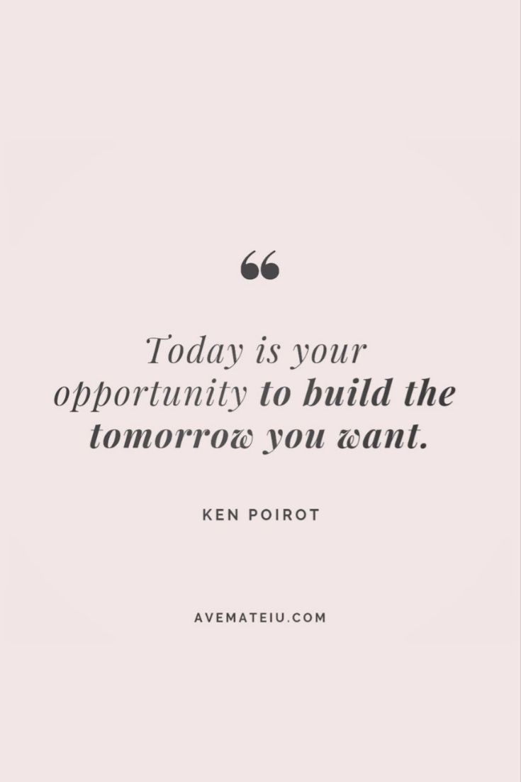 ... build your tomorrow today...| words | living