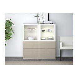 ikea best vitrine wei selsviken hochglanz klarglas wei schubladenschiene sanft. Black Bedroom Furniture Sets. Home Design Ideas