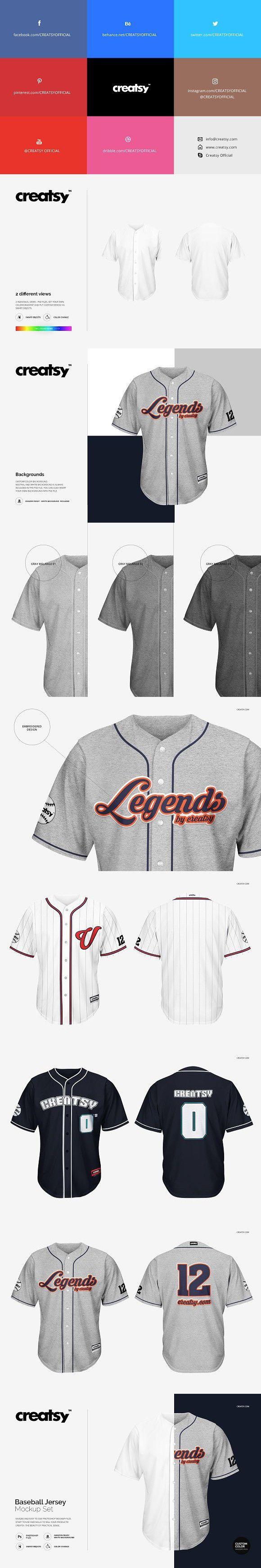 Download Baseball Jersey Mockup Set Baseball Jerseys Shopping Baseball