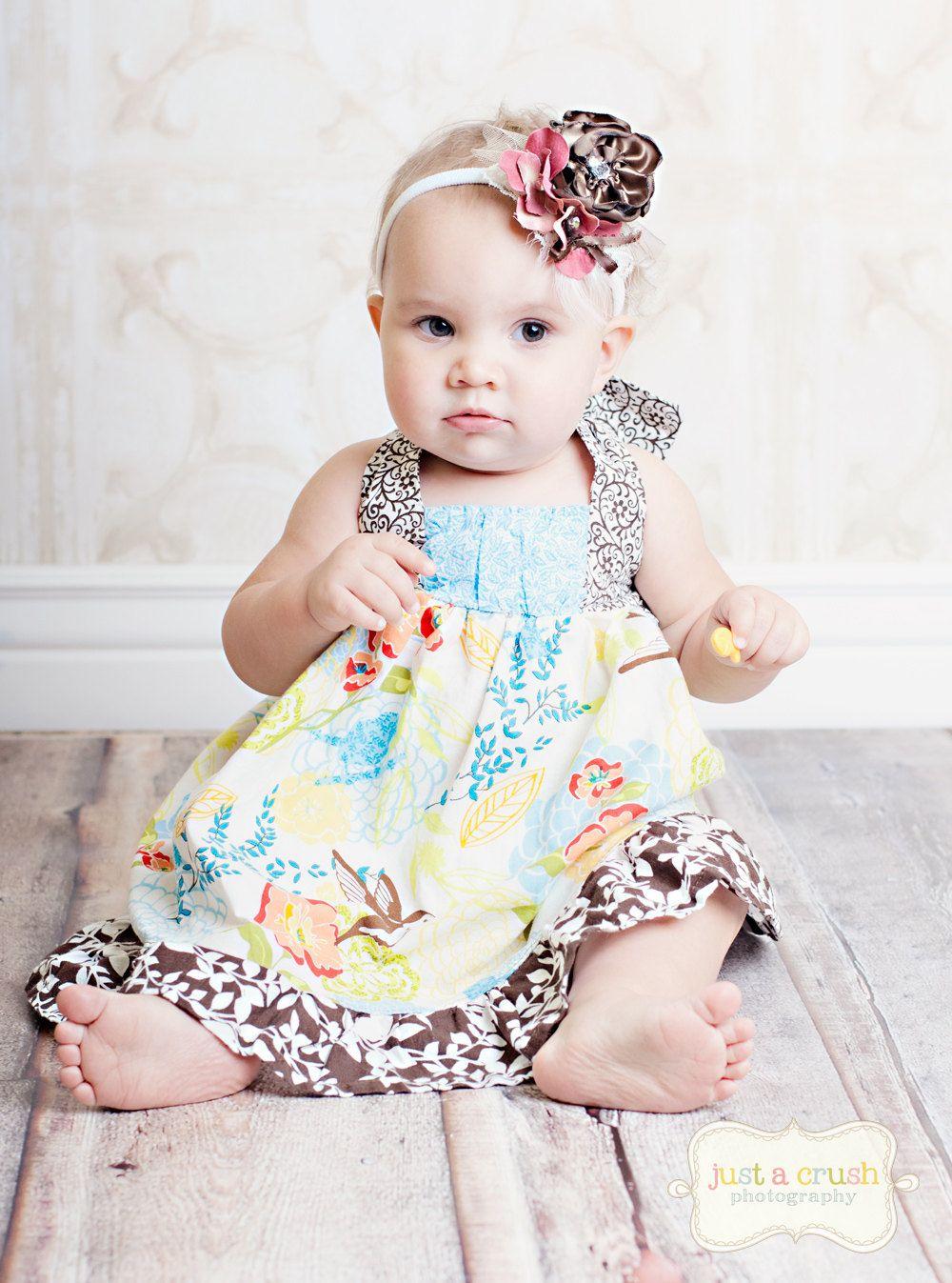 Sewing Pattern, PDF Sewing Pattern...The Riley Dress 12m-8, Girls ...
