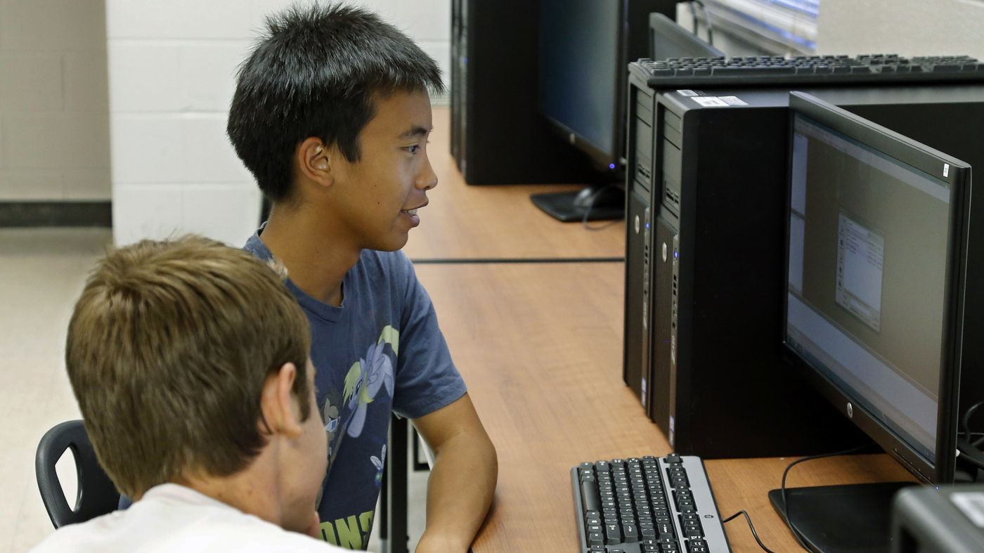 Only about 10 percent of K-12 schools teach computer science. Some companies are trying to fill a void in public education by teaching kids programming basics.