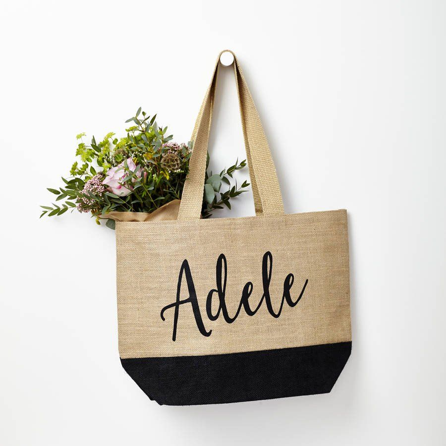 PERSONALISED ANY NAME TOTE SHOPPER SHOPPING BAG GIFT