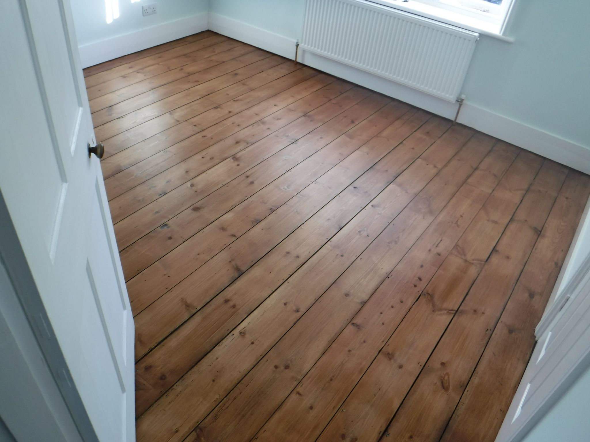 This Pine Floor Was Sanded Gap Filled Using Reclaimed