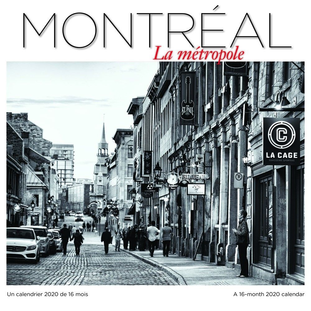 Montreal le Metropole 2020 Wall Calendar (FRENCH) (With