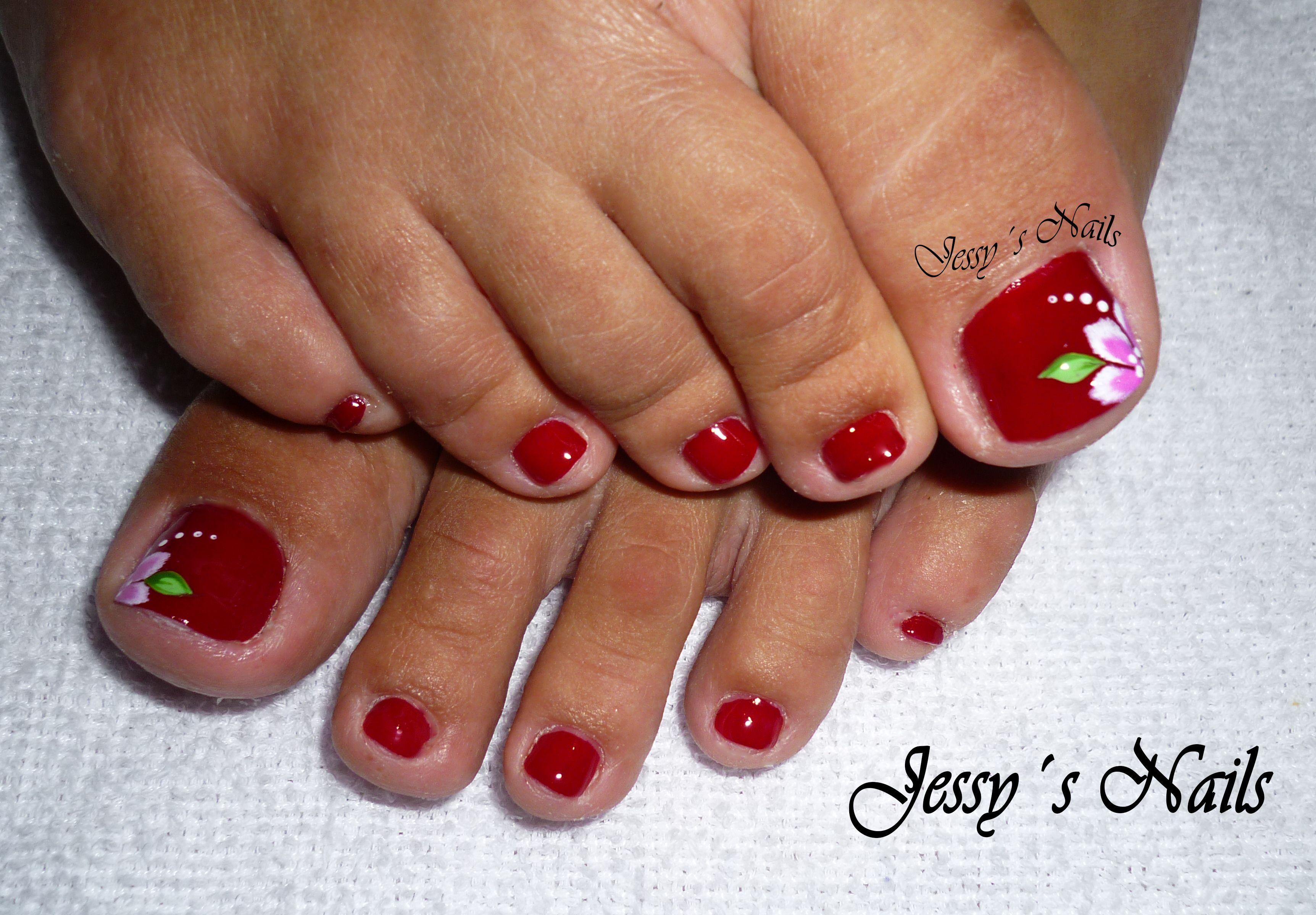 uñas rojas para pies | Uñas | Pinterest