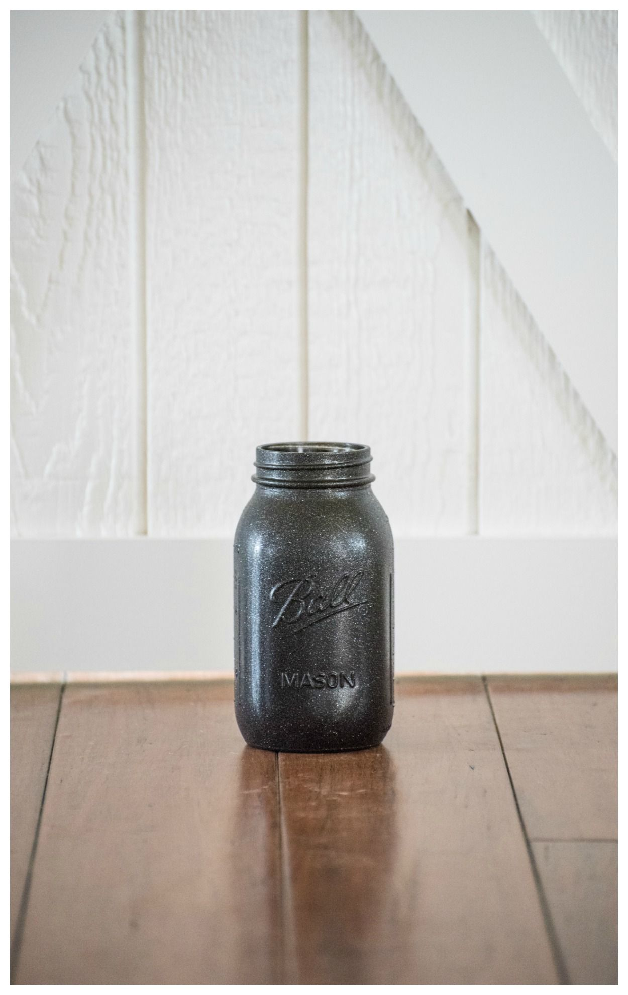 Black Mason Jar Wedding Centerpiece Glitter Rustic Farmhouse Decor ...