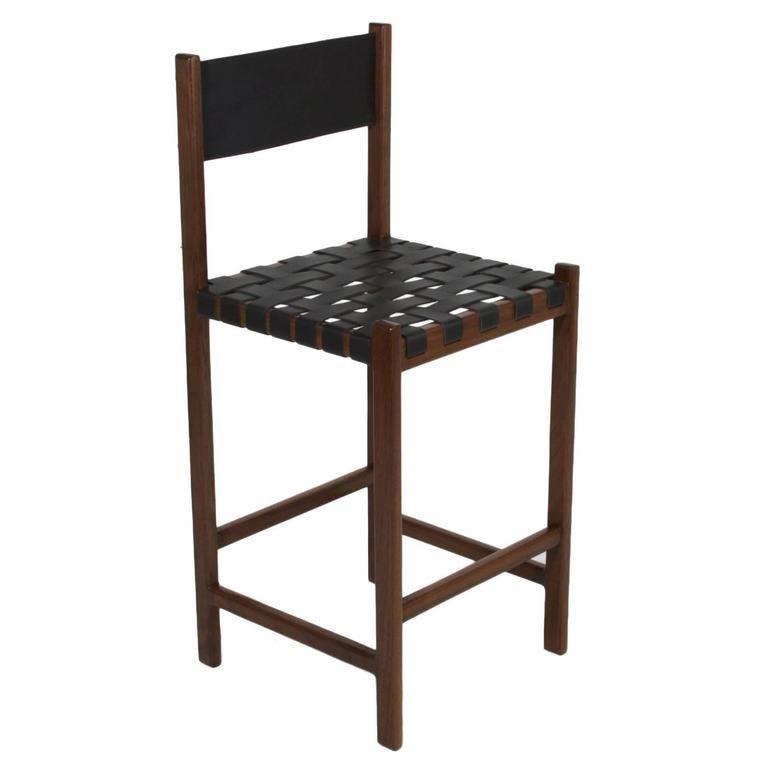 Enjoyable Basic Leather Strap Bar Stool By Thomas Hayes Studio Napa Creativecarmelina Interior Chair Design Creativecarmelinacom