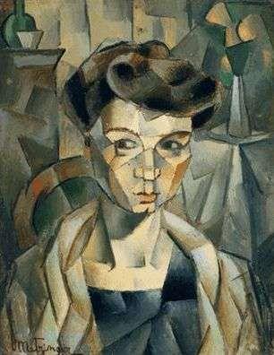 Madame metzinger par jean metzinger art cubisme for Braque oeuvres