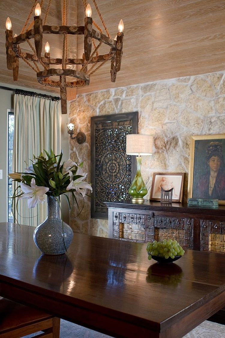 Formal Dining Room With Spanish Colonial Style Design Charmean Neithart Interiors Wooden Wall