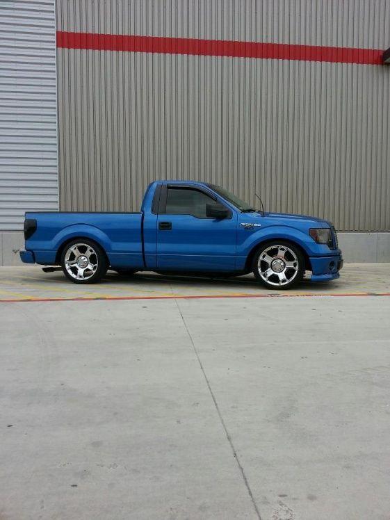 Blue F150 Limited Wheels Ford Trucks Single Cab Trucks Custom