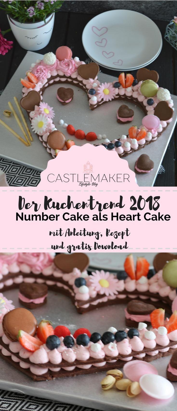 Number Cake als Heart Cake mit Mürbeteig - Kuchentrend 2018 / Muttertag « CASTLEMAKER Lifestyle-Blog #lettercakegeburtstag