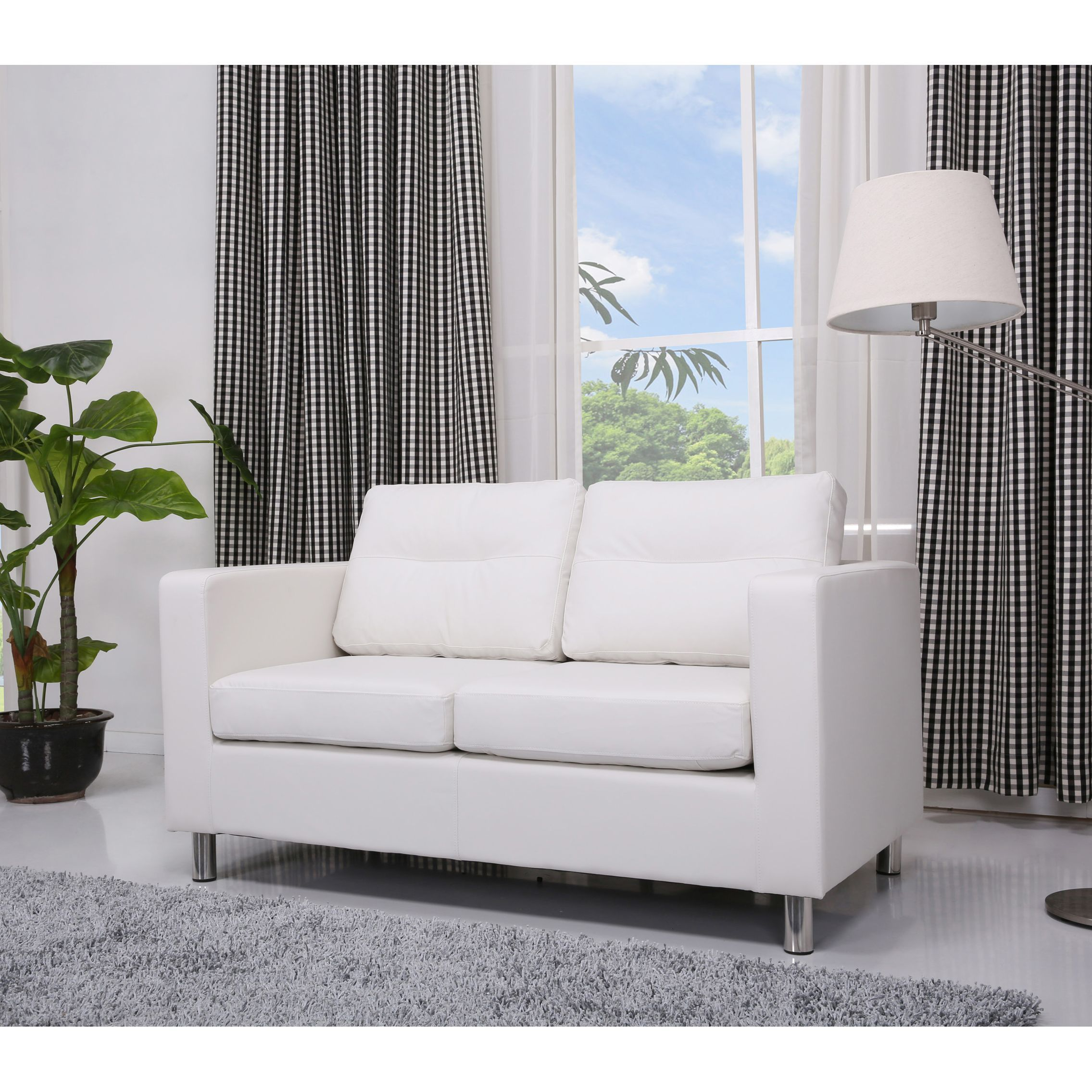 This Loveseat Features A Sleek Contemporary Design