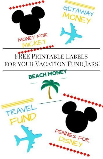 graphic regarding Savings Jar Printable named Pennies for Disney\