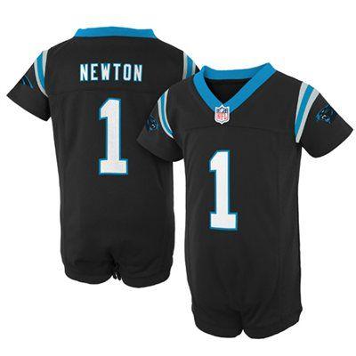 nike cam newton carolina panthers newborn game romper jersey black - Carolina Panthers Merchandise