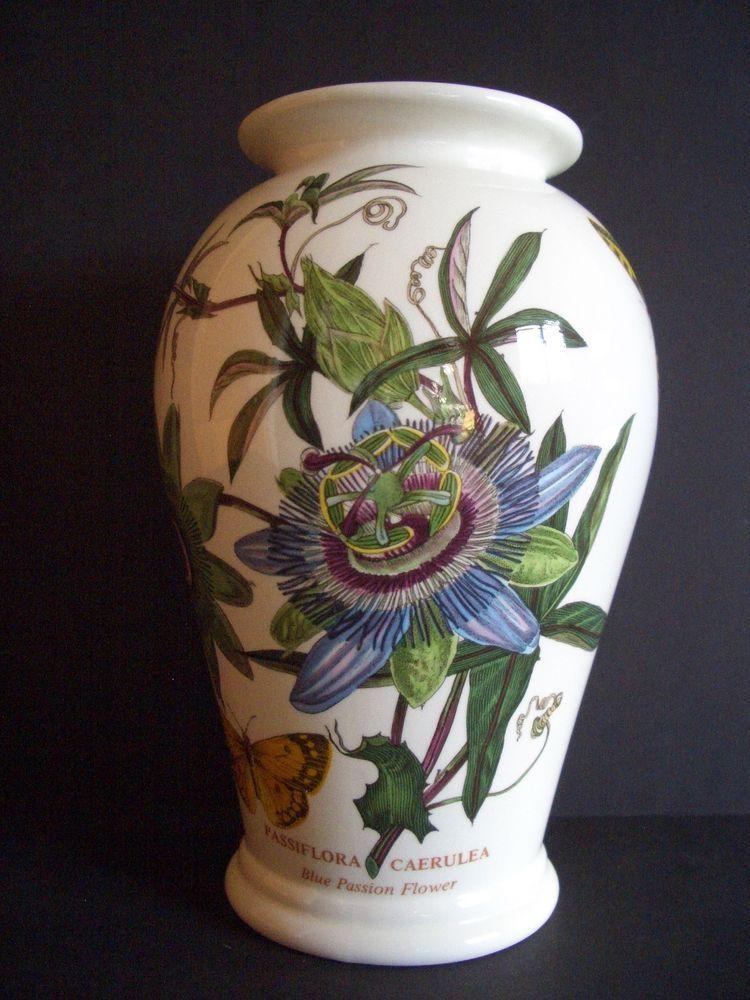 Portmeirion Botanic Garden Vase Passion Flower England 8 12 1972