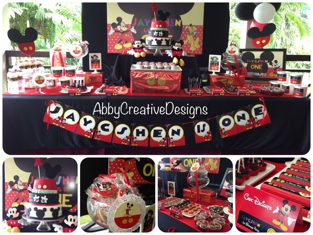 mickey mouse birthday party ideas mickey mouse 1st birthday party abby creative designs