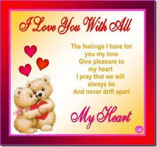 Valentines Day Quotes For Her Custom I Love You With All My Heart Valentines Day Valentine's Day Vday