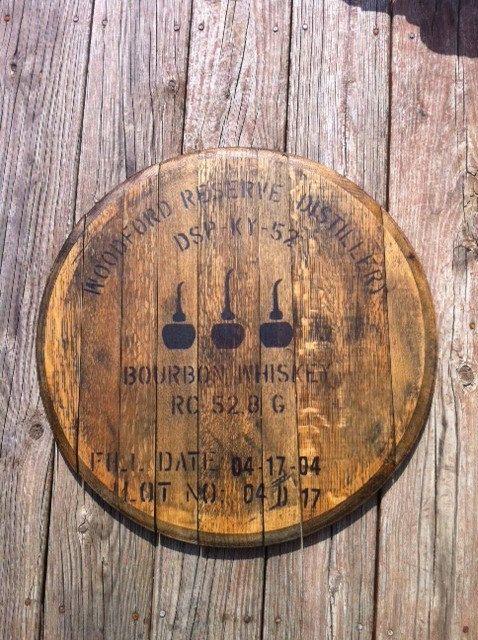 Woodford Reserve Bourbon Whiskey Bourbon Barrel Head Lid 5500