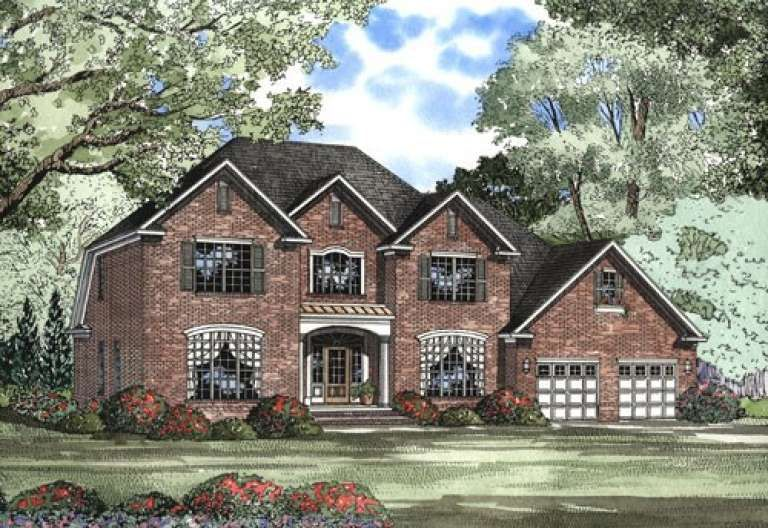 House Plan 110 00418 Early American Plan 3 283 Square Feet 5 Bedrooms 2 5 Bathrooms In 2020 Colonial House Plans American Houses House Plans