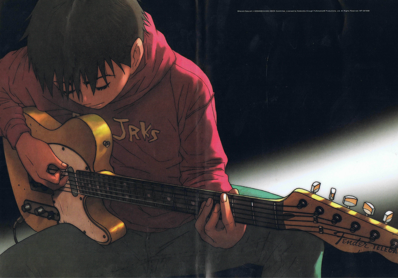 Man Playing Guitar Illustration Guitar Guitar Fun Fender Telecaster Tanaka Yu Guitar Illustration Man Playing Guitar Illustration Anime Boy Playing Guitar Anime boy with guitar wallpaper