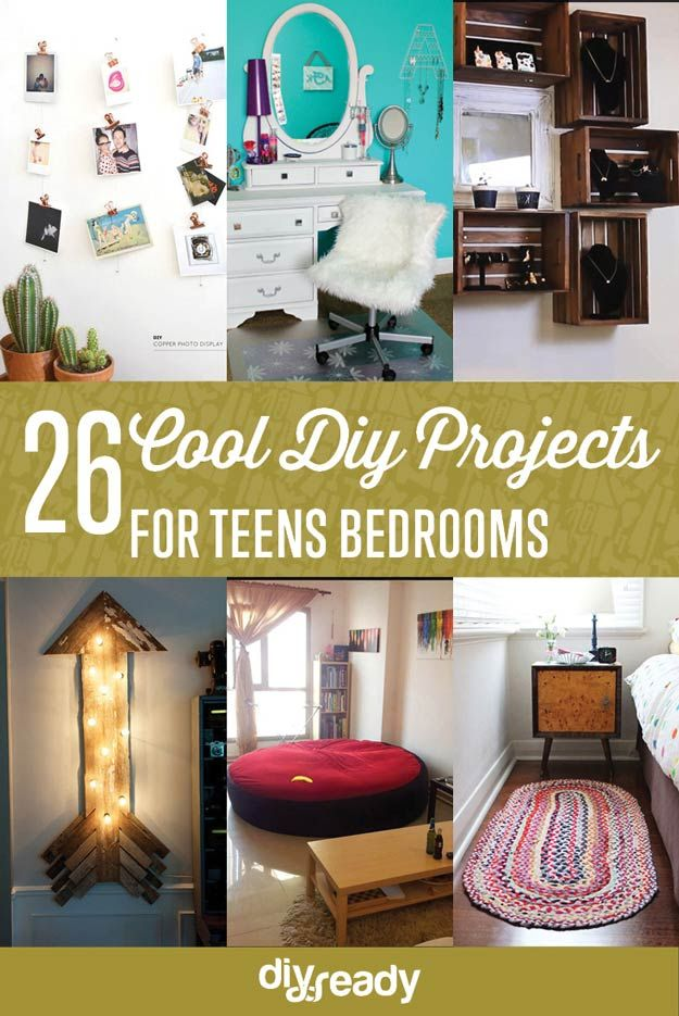 26 Cool DIY Projects for Teens Bedrooms
