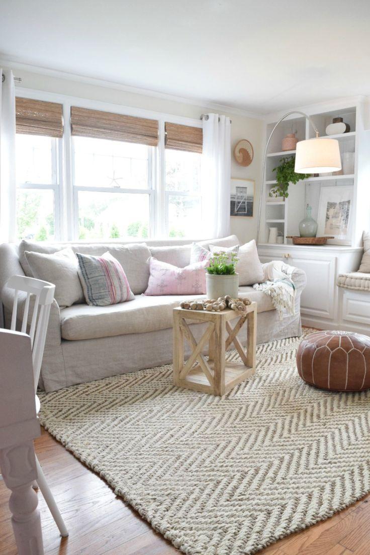 Jute Rug Review in Our Living Room | Pinterest | Jute, Living rooms ...