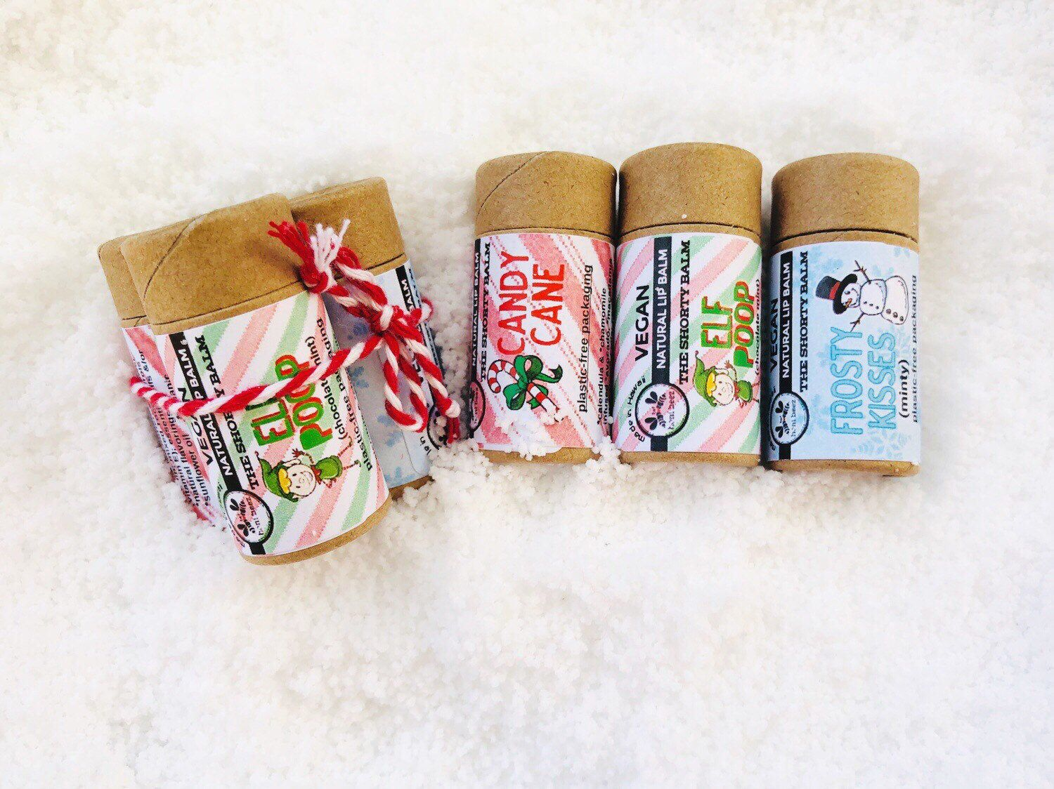 Christmas Eco Friendly Lip Balm Set Vegan Natural Lip