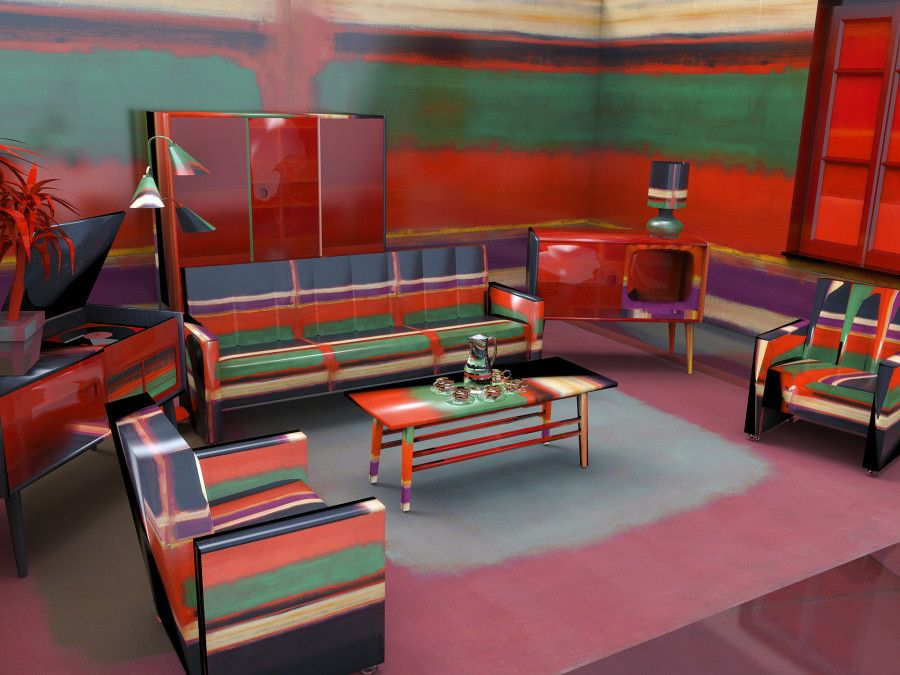 1960S Interior Design Fascinating What If Artists Designed Rooms Instead Of Canvases  Living Rooms Design Ideas