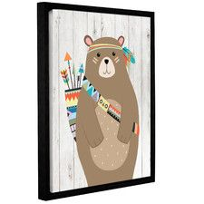 Aida Tribal Bear Ii Framed Art Tribal Bear Art Wall Kids Framed Art