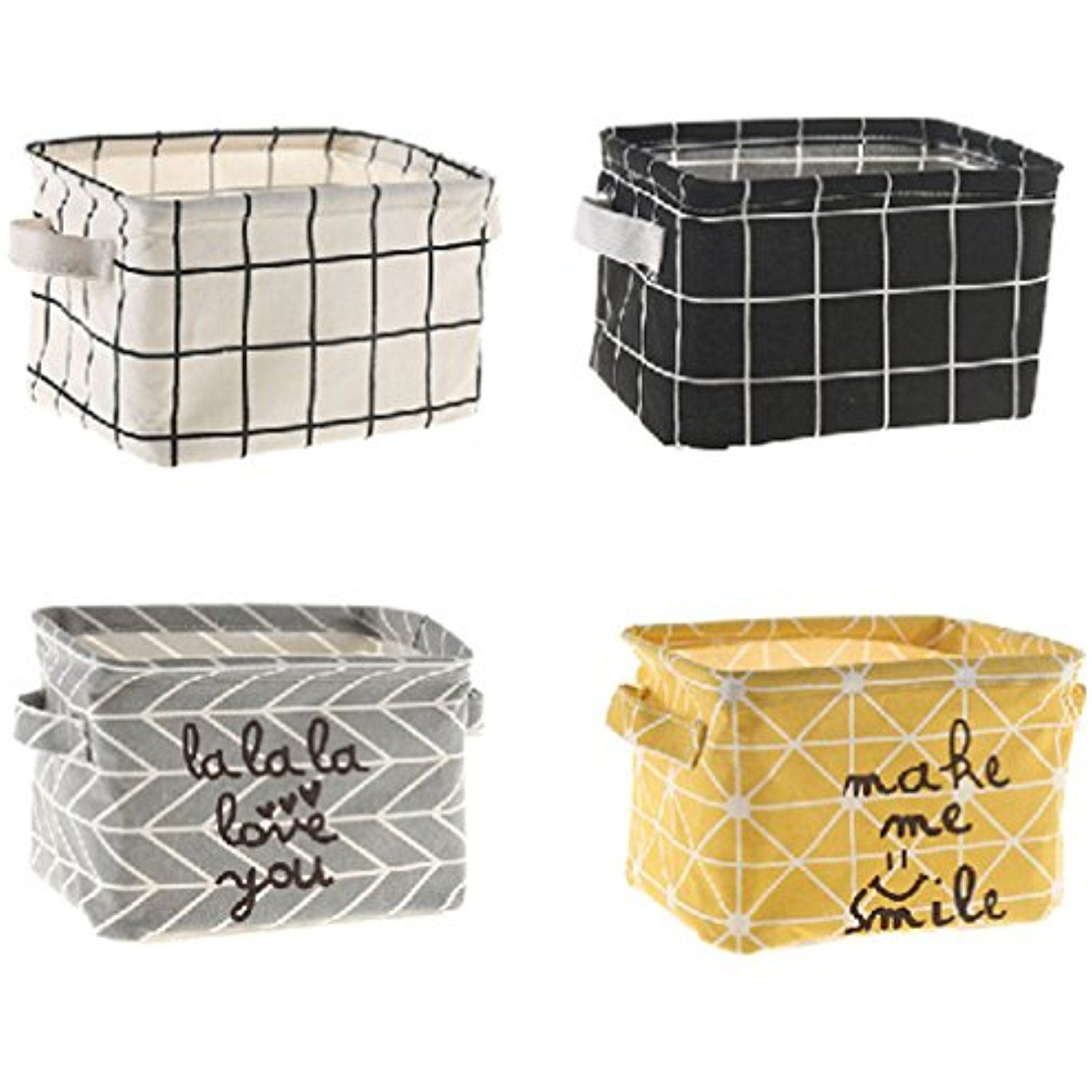 Keys Sea Team 3-Pack Cotton Rope Baskets Bowl Sewing Kits Round Open Dish for Fruits Fabric Tray Jewelry Small Woven Storage Basket Grey /& White