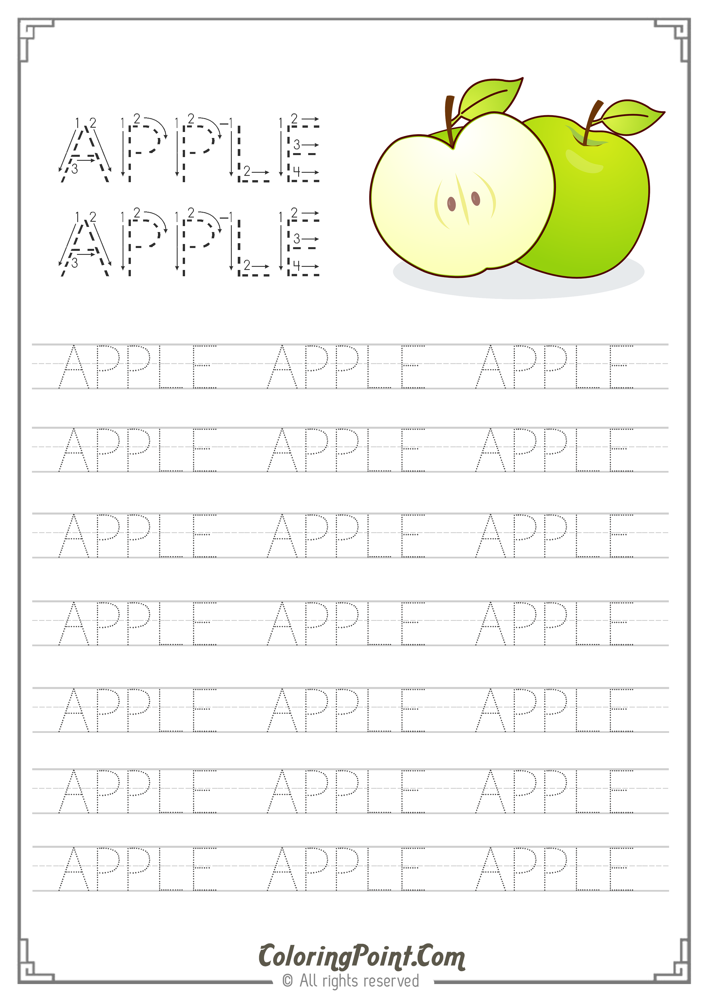 - Apple Word Tracing Worksheet (With Images) Tracing Worksheets